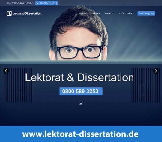 korrekturlesen dissertation münchen